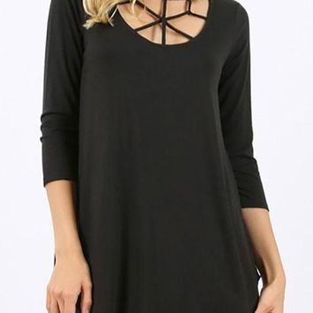 Caged Top - Black