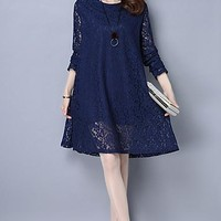 Women's Plus Size Lace Dress