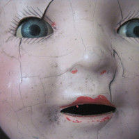 Odd Looking Vintage Composition Doll Head