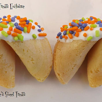 30 Fortune Cookies, Halloween Class Party, Class Pack, Halloween Edibles, Halloween Treats, Spooky, Trick Or Treat, Halloween Party, Favors