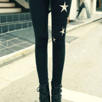 Black Stars Leggings