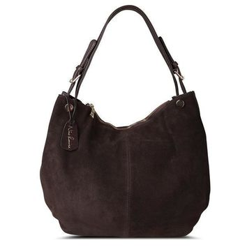 Split Suede Hobo Bag