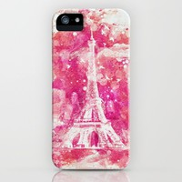 Artistic XLIV - Eiffel tower Paris iPhone Case by tmarchev