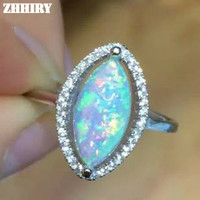 Genuine fire Opal ring Solid 925 sterling silver fire opal gem 100% natural stone rings woman fine jewelry