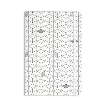 "Kess Original ""Shade Cubed"" Gray White Everything Notebook"