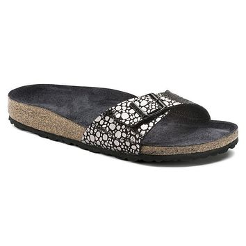 Best Online Sale Birkenstock Madrid Birko Flor Metallic Stones Black 1008804 Sandals