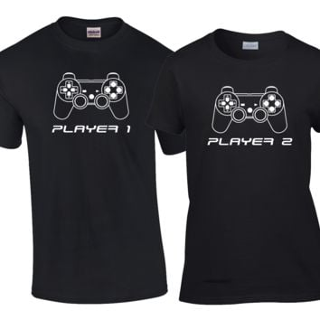 Player 1 Player 2 Outline Matching Couples Shirts
