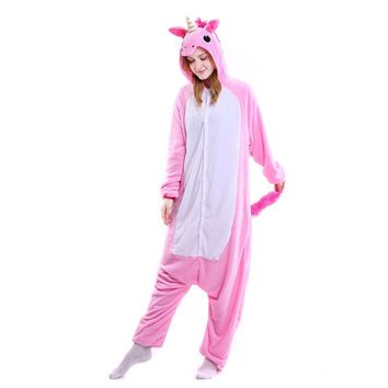 Drop Crotch Unicorn Onesuit PINK
