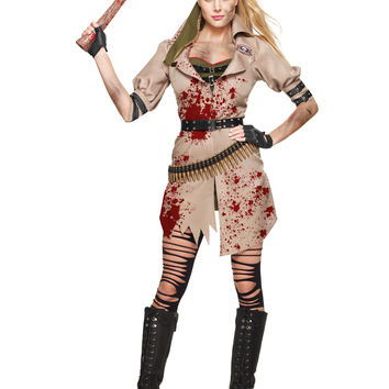 Zombie Huntress Adult Womens Costume – Spirit Halloween