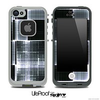 Abstract Black Plaid Skin for the iPhone 5 or 4/4s LifeProof Case