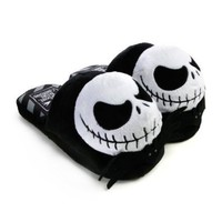 Disney's The Nightmare Before Christmas Jack Face Plush Slippers (Medium)