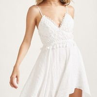 Eyelet Handkerchief Cami Dress