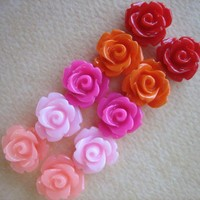 10PCS - Mini Rose Flower Cabochons .. on Luulla