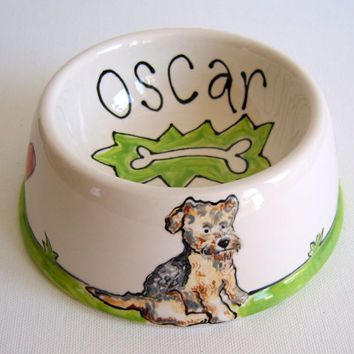 Personalized Ceramic Dog or Cat Bowl