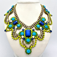 One of a Kind Statement Necklace Athens by DolorisPetunia on Etsy