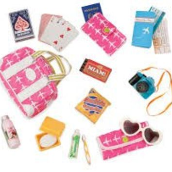 Vacation Travel Bag with Accessories for 18-Inch Dolls - Bon Voyage by Our Generation