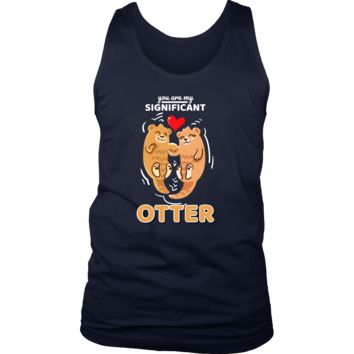 Sea Otter,Romantic,Love Significant Otters Couples Tank