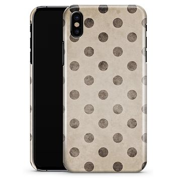 Tan and Black Grunge Polka Dots - iPhone X Clipit Case