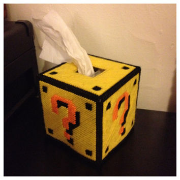 Mario Mystery Box Tissue Box by K8BitHero on Etsy