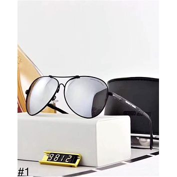 Giorgio Armani trend men and women models sunscreen anti-UV large frame color film polarized sunglasses #1