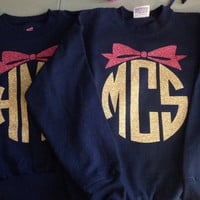 YOUTH Sweatshirt Monogrammed crew neck pullover girls