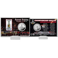 Chicago Blackhawks 2015 Stanley Cup Champions Banner Raising Silver Coin Card