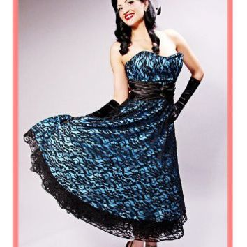 50s Style Dress-Vintage inspired party dress-Evening wear-Prom Dress