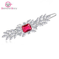 Teemi Newest Classic Top Quality Female AAA Zircon Stone Hair Accessories Hairpins Luxury Crystal White Gold Plated Hair Jewelry