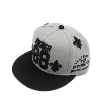 Korean Hip-hop Embroidery Alphabet Baseball Cap Hats [4917655620]