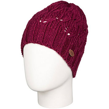 Roxy Womens Major Break Beanie Hat One Size Burgundy