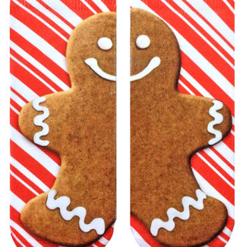 Gingerbread Man Ankle Socks
