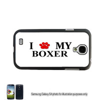 Boxer Paw Galaxy Note 4 Case Love My Dog Galaxy S4 S5 Case Samsung  S3 Cover Note 2 3 Shell Cover Skin Bumper