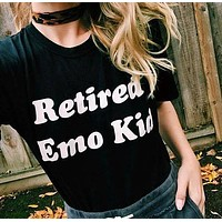 """Retired Emo Kid"" Tee"
