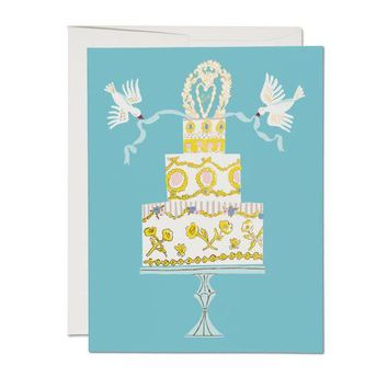 RED CAP CARDS LOVE CAKE CARD