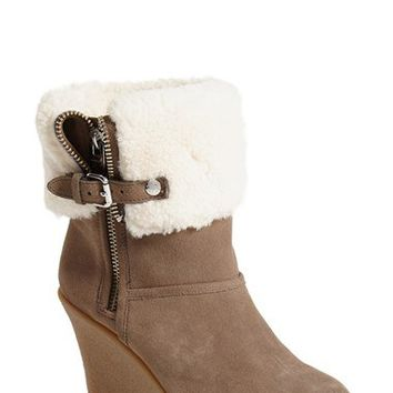 COACH 'Warren' Suede Wedge Boot (Women) | Nordstrom