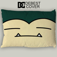 Snorlax Sleeping Face Pillow Case In 20 x 30 Inches