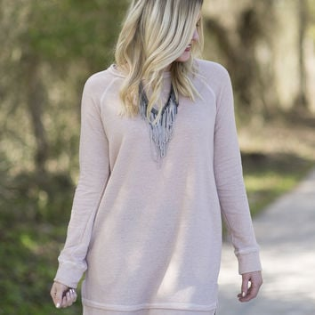 Sweet Simplicity Tunic - Blush