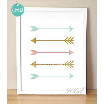 Arrows Print Canvas Art Print Painting Poster,  Wall Picture for Home Decoration,  Wall Decor YE048