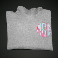 Quarter Zip Sweatshirt with Lilly Pulitzer Monogram