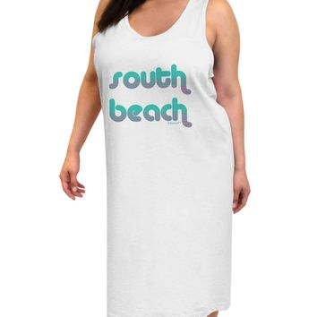 South Beach Color Scheme Design Adult Tank Top Dress Night Shirt by TooLoud