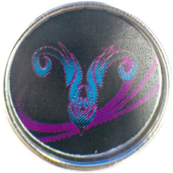 Aries Zodiac Cool Art Horoscope Sign Symbol 18MM - 20MM Charm for Snap Jewelry New Item