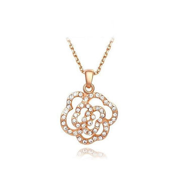 New Arrival Gift Stylish Shiny Crystal Jewelry Necklace [9281914500]