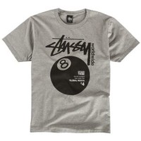 Stussy Worldwide 8 Ball T-Shirt - Men's at CCS