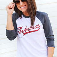 Arkansas Baseball 3/4 Sleeve Tee