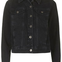 MOTO Washed Black Western Jacket