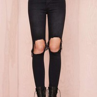 UNIF Peach Pit Skinny Jeans - Black