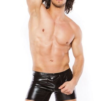 Zeus Elasticated Wet Look Boxer Shorts