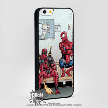 Funny Spiderman And Deadpool For Apple, Iphone, Ipod, Samsung Galaxy Case