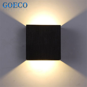 6W Led Wall Lamp 10CM*10CM*5CM Luminaire Apliques Pared Lamparas de Pared Wall Mount Light Lamp for Bedroom White Warm White