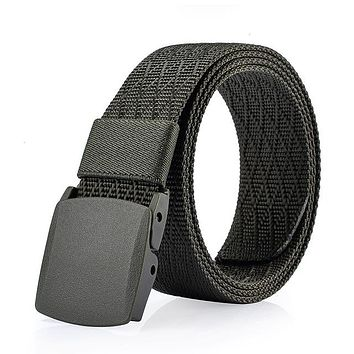 Male Canvas Strap Army Tactical Belt High Quality Military Equipment Cinturones Hombre Nylon Belts For Men
